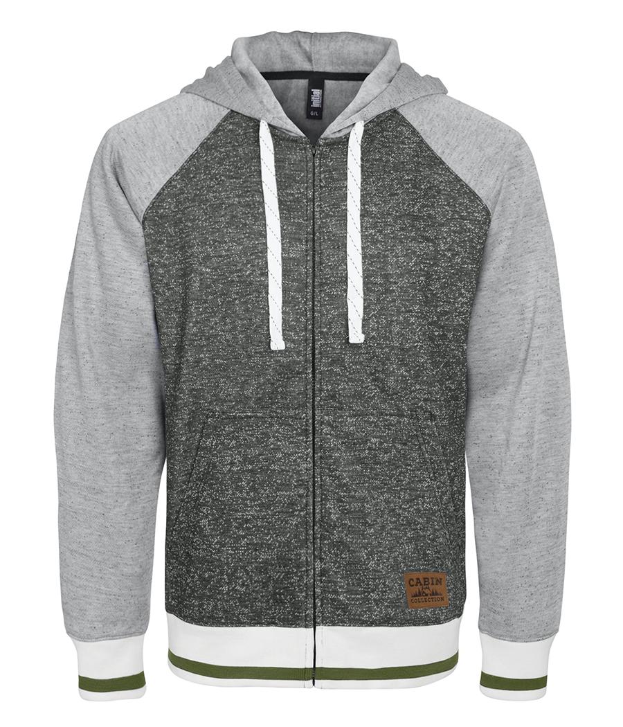134 - Hooded full zip Cabin sweater - unisex