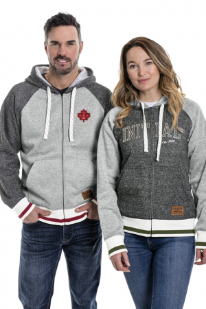 134 - Hooded full zip Cabin sweater - unisex