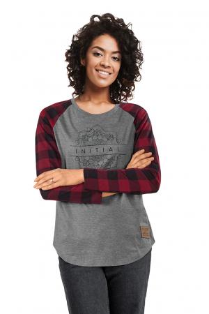 L7B - T-shirt manches longues carrelées - femme