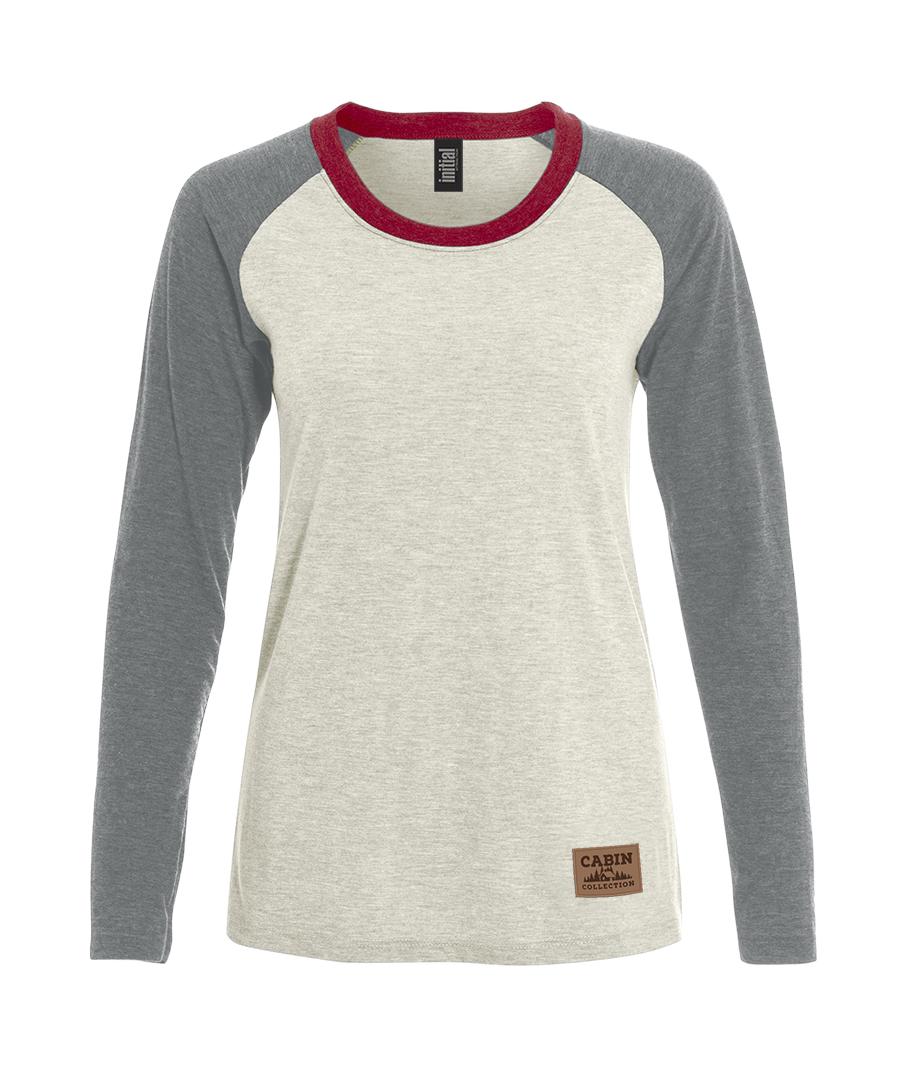 L6A - Raglan long sleeve t-shirt women