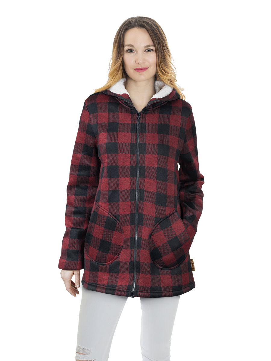 L8T - Cabin plaid coat - women